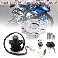 Ignition Switch Lock Fuel Gas Cap Key Set For Yamaha MT03 06 12 YZF R6 R1 XJ6 FJ09 FZ09 FZ07 FJ13 FZ1 FZ6 FZ8