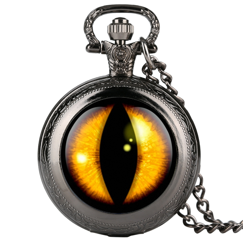 Unique Dragon Eye Song Of Ice And Fire The Game Of Thrones Gold Round Necklace Design Quartz Pocket Watch Chain Pendant Gifts