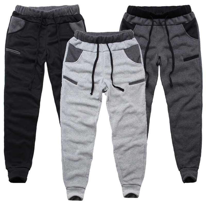 Winter Warm Thick Sweatpants Men's Track Pants Elastic Casual Baggy Lined Tracksuit Trousers Jogger Harem Pants Men Plus Size