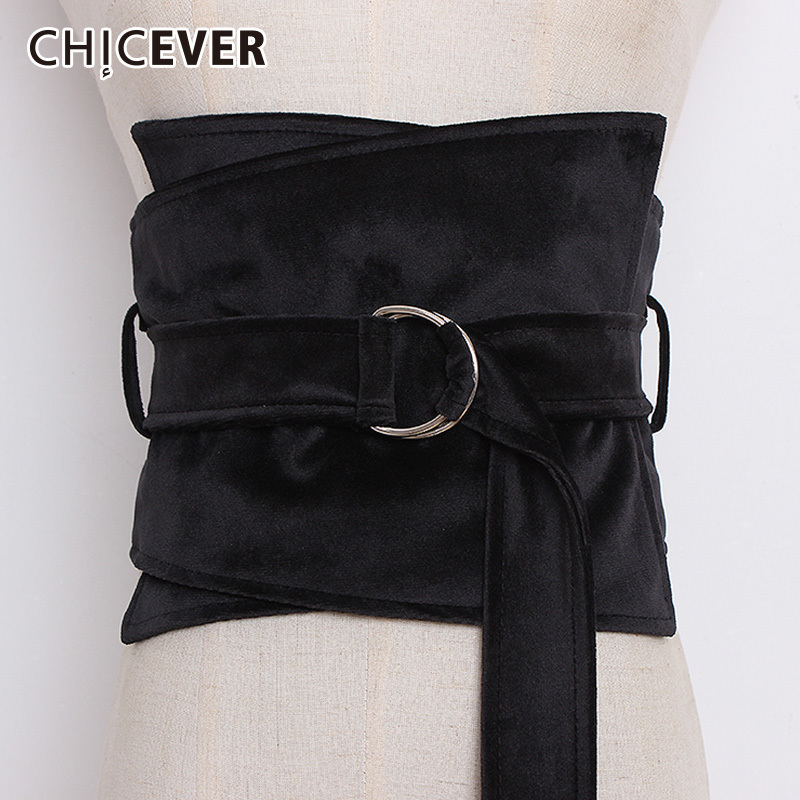 CHICEVER Leopard Elastic Corset For Women Wide Belts High Waist Women's Belt For Dresses Accessories Korean Fashion Tide 2019