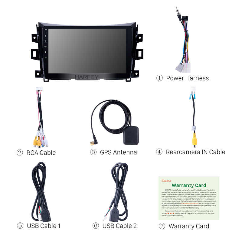 هارفي أندرويد 8.1 راديو السيارة ل 2011 2012 2013-2016 نيسان نافارا الحدود NP300 10.1 بوصة AUX مشغل وسائط متعددة لتحديد المواقع ستيريو