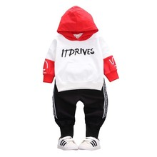 Spring Toddler Cotton Clothes Fashion 2019 Children Girls Boys Sport Hooded Jacket Pants 2pcs/Sets Baby Casual Kids Tracksuits цена