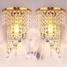 Led Wall Light Bedroom Crystal Led Wall Lamp Sconce Indoor Luminarias De Interior Modern LED Light Loft Bedside led Lighting