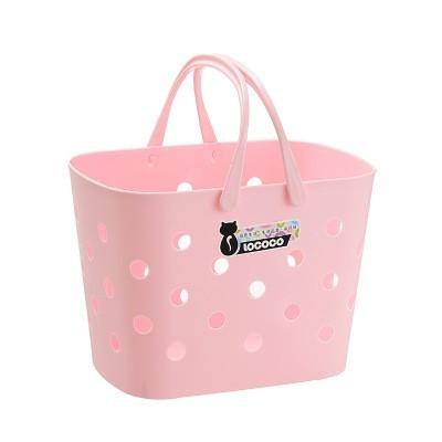 Supermarket Shopping Plastic Laundry Basket Bath Room Articles Toys Portable Organizer Housekeeping Organization