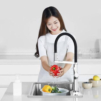 U-Yue Kitchen Faucet Intelligent Sensor Switch Faucet 300 Rotating Arm Universal Tube Water Kitchen Stensils