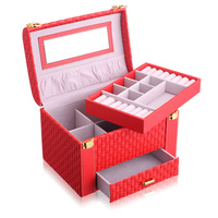 Hot Vintage Jewelry Treasure Chest Case Holder Box Hand Case Home Office Work