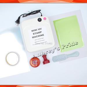 Image 2 - Mini Simple 36W UV Exposure Lamps Flash Stamp Machine Self inking Stamping Making Sealer 15x20mm Polymer 2Pcs Plate Kit