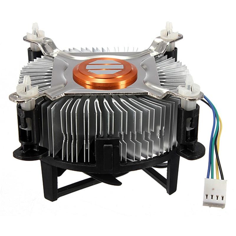 Alta calidad 4Pin 12 V PC CPU refrigerador ventilador de refrigeración de aluminio refrigerador disipador de calor para Intel Core 2 LGA Socket 775 a 3,8G E97375-001