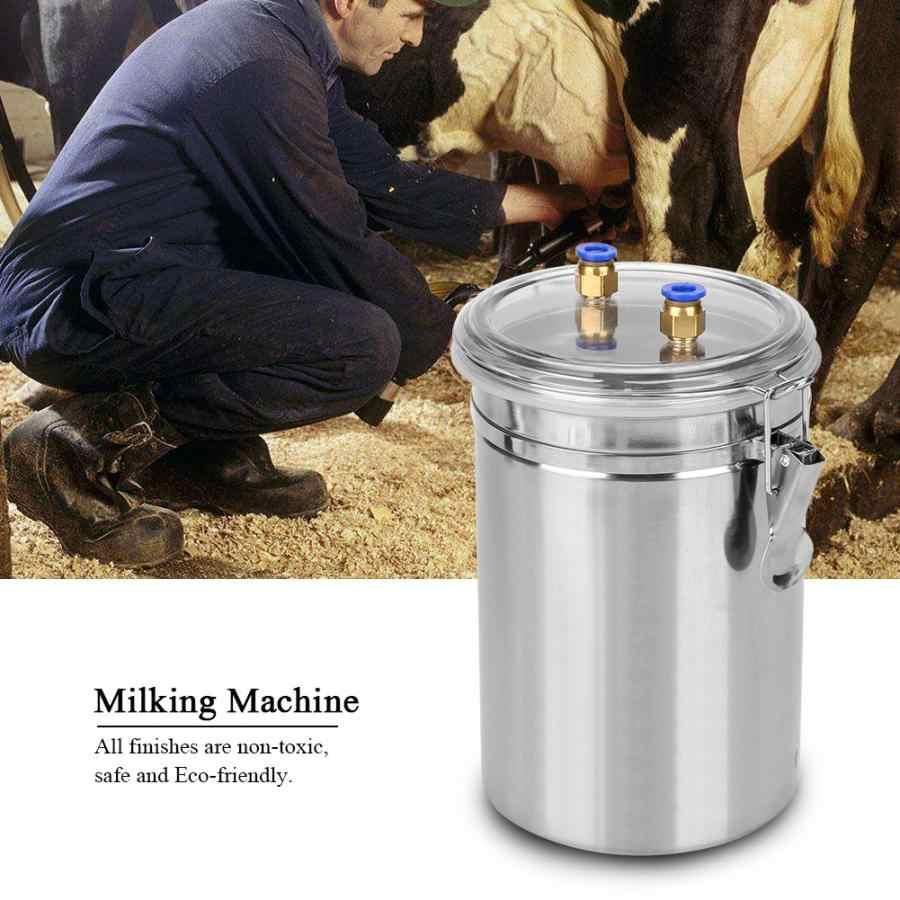 Portable 2L Electric Vacuum Milking Machine Dual Head for Sheep /& Cows Steel