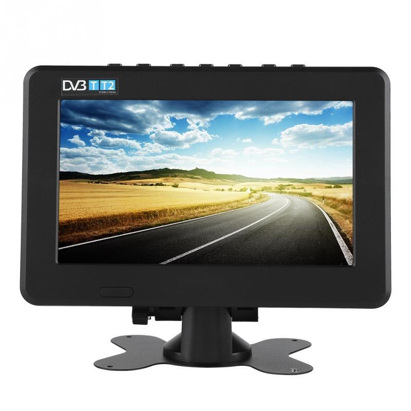 Leadstar 7 дюймовый телевизор 100-240 V DVB-T2 16:9 1080 P автомобильное Цифровое ТВ Стерео окружающие Портативный ТВ телевизоров Новый