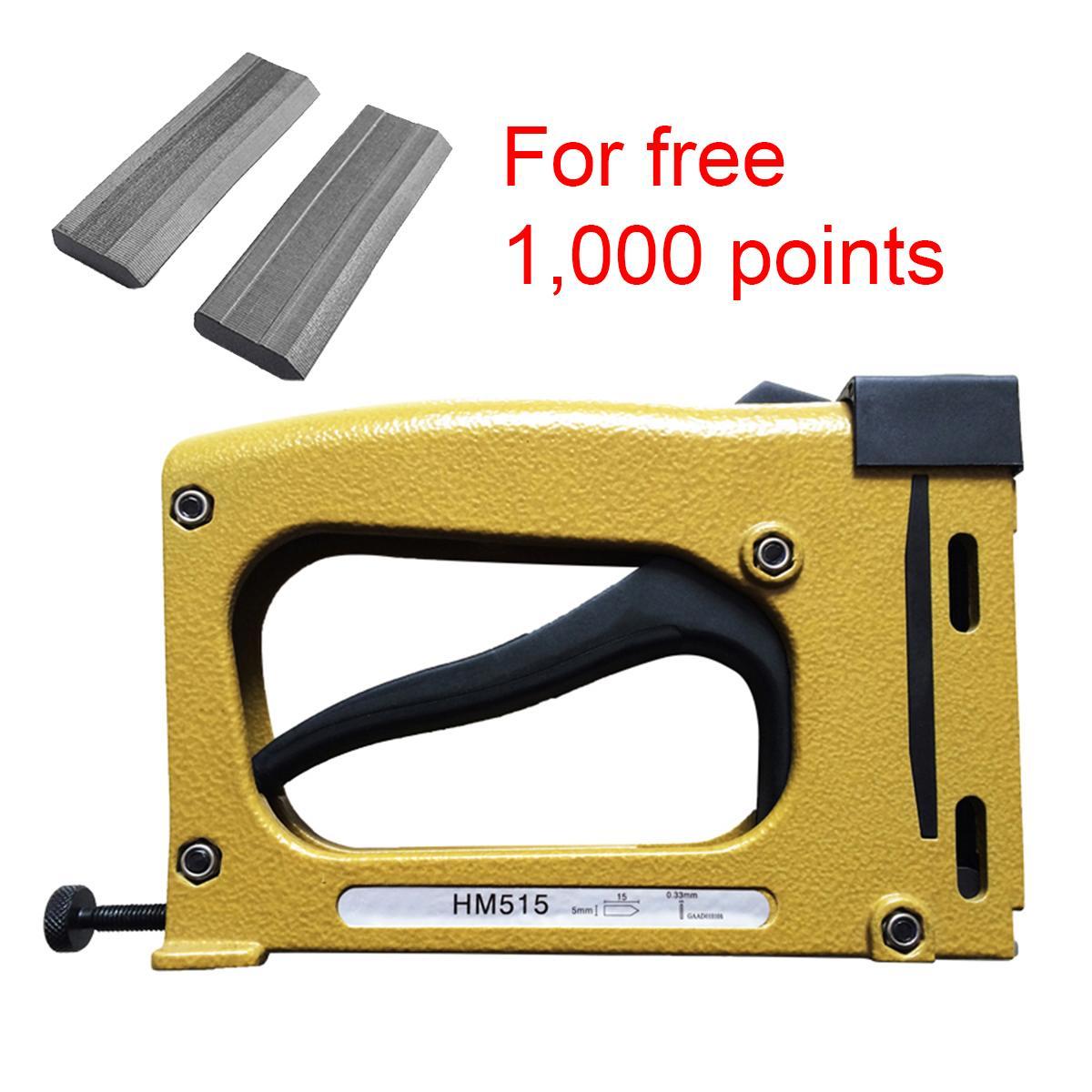 Руководство металла точка драйвер степлер багетная инструмент + 1000 шт. очков момент драйвер степлер багетная набор инструментов прочный