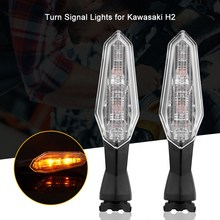 1 Pair Motorcycle Turn Signal LED Lights Indicator Warning Lamp for Kawasaki H2(China)