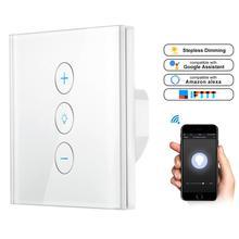 Светодиодный диммер 220 В WiFi беспроводной сенсорный светильник бесступенчатый диммер работает с телефоном приложение Amazon Alexa/Google Home/IFTTT