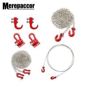 Rc Car Metal Tow Hook Chain Decoration For 1:10 Rc Rock Crawler Traxxas Trx-4 Axial Scx10 90046 Wraith D90 Tf2 Tamiya Cc01(China)