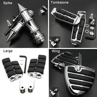 Large Front Foot Pegs For 2000 2015 Honda Shadow ACE 750 Spirit Aero VT750 C Phantom RS Deluxe footpeg Rest Pedal Billet Rubber