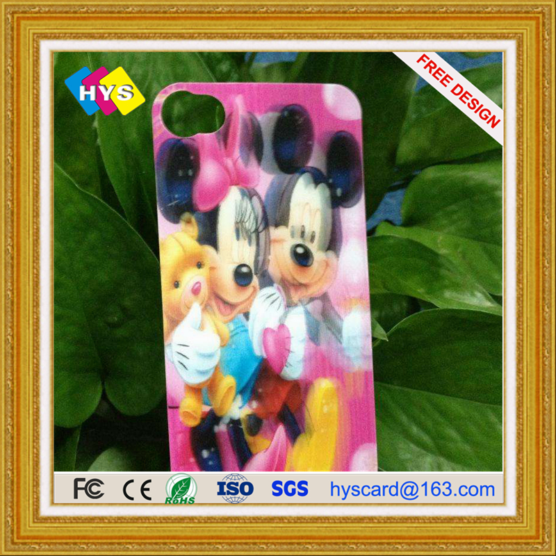 Customized Lenticular PET/PVC 3D  Card , Three Dimensional Grating Card 3D Smart  Card Supply