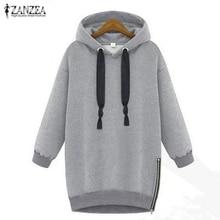 2019 Autumn Winter Zanzea Women Hoodies Long Sleeve Hooded Loose Casual Warm Sweatshirt Oversized Plus Size