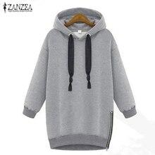 2020 Autumn Winter Zanzea Women Hoodies Long Sleeve Hooded Loose Casual Warm Sweatshirt Oversized Plus Size