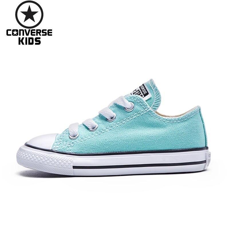 CONVERSE детская обувь ALL STAR Халаза низкая парусиновая Для досуга Для женщин детская обувь #736565C S 1