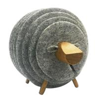 Форма овец противоскользящие подстаканники подставки изолированные круглые войлочные чашки коврики в японском стиле креативный домашний ...