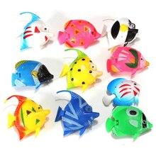 Новые 10 шт Пластиковые Маленькие поддельные рыбки для украшения аквариума