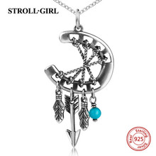 2018 New arrival sterling silver 925 diy design dreamcatcher chain necklace&pendant fashion jewelry making for women gift