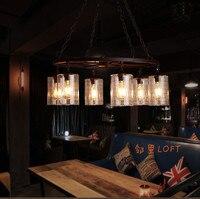 Лофт Винтаж американский кантри Лофт, промышленные паук Железный Ретро подвесной светильник ресторан Алюминий горшок Подвесная лампа