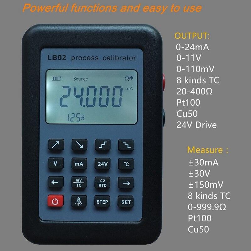 Compteur de tension de résistance USB Lb02 4-20Ma 0-10 V/Mv Source de générateur de Signal Thermocouple Pt100 Test de calibrateur de processus de température - 6