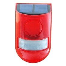 Neue Solar Infrarot Motion Sensor Alarm Mit 110Db Sirene Strobe Licht Für Home Garten Carage Schuppen Carvan Sicherheit Alarm System