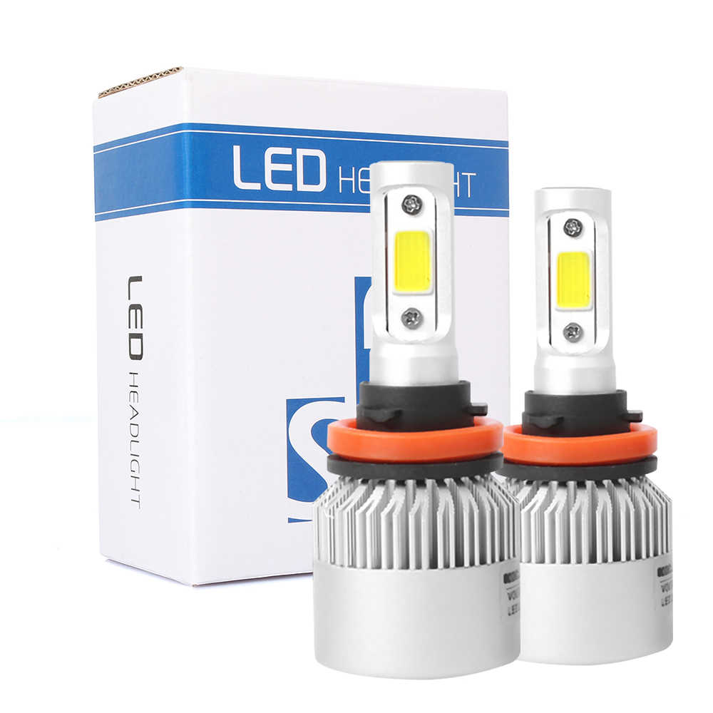 S2 Car Light COB LED Headlight Bulbs H1 H4 H7 H11 H13 Front light 9005 9006 36W 8000LM Car LED Lamp 6500K Fog Light