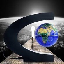 все цены на C shape LED World Globe Map Electronic Magnetic Levitation Floating World Globe Antigravity LED Light Home Decoration in Night онлайн