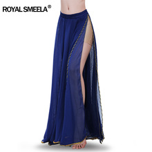 Hot Sale 2020 belly dancing training skirts belly dance costumes practice dress & performance sexy split belly dance skirt 6009