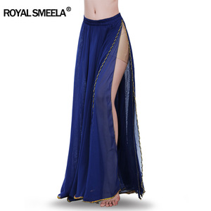 Image 1 - Hot Sale 2020 belly dancing training skirts belly dance costumes practice dress & performance sexy split belly dance skirt 6009