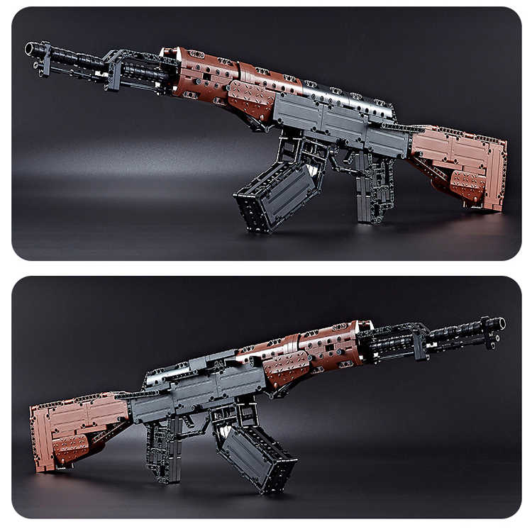 PUBG AKM Size Lớn Súng Vũ Khí Quân Sự Với 2 Nhân Vật SWAT AK Tín Hiệu Súng Xây Dựng Mô Hình Khối Gạch Mềm Mại đạn Đồ Chơi