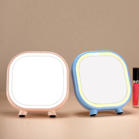 Mirror Loudspeaker Box Desk Lamp Lazy Cat Makeup Use Light Led Charge Dressing The Mirror Lamp Originality Small Night light