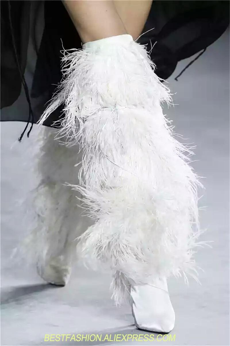 Bleu Au Piste Discothèque Bottes Picture Chaud Fourrure Femme Talon as Femmes Chaussures As Blanc Noir Picture Haut Hautes Gland Long Hiver 9DH2IWE