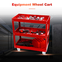 3 Tier Shelf 200kg Load Heavy Workshop Garage DIY Tool Storage Trolley Wheel Cart Tray Capacity for Holding Heavy Equipment
