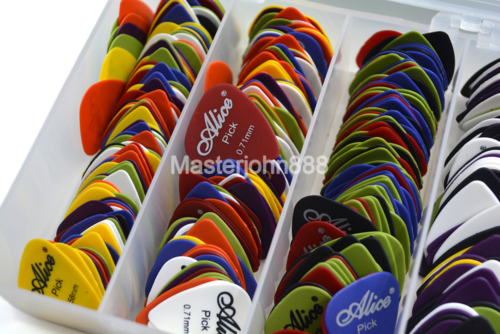 Lots Of 50pcs Alice Matte ABS Electric/Acoustic Guitar Picks 6 Thickness Optional Free Shipping