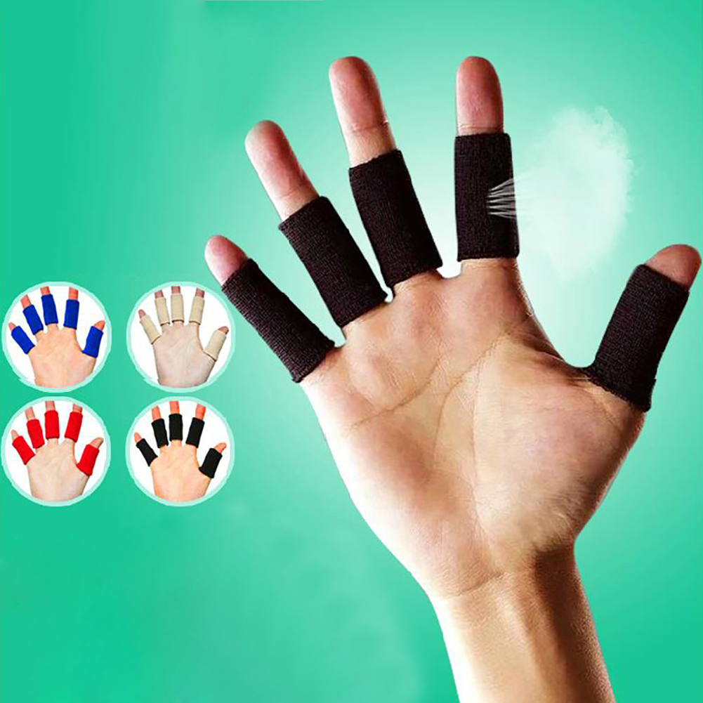 10x Breathable Stretchy Finger Protector Sleeve Bandage Support Arthritis Sports