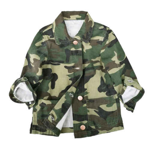 1dd337d1c Detail Feedback Questions about Girls Casual Army Green Autumn Coat ...