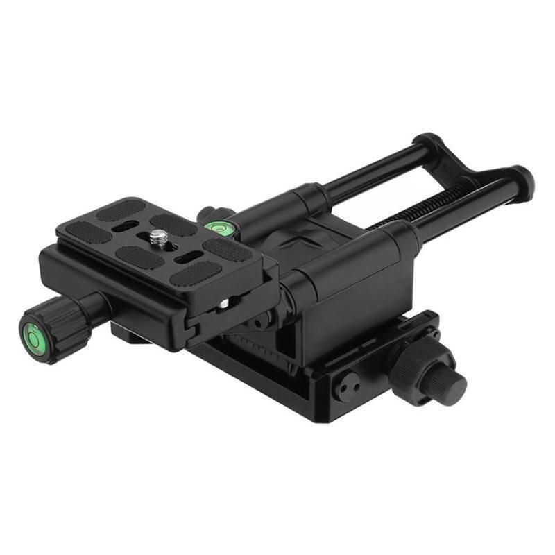 MFR4-5 léger 4 voies Macro mise au point Rail curseur avec pince de fixation rapide 1/4 vis pour Canon Sony Pentax Nikon DSLR appareil photo - 6