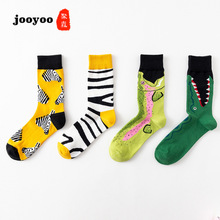 jooyoo Color Tube Zebra-striped Crocodile Animal Series Couple Stockings Socks