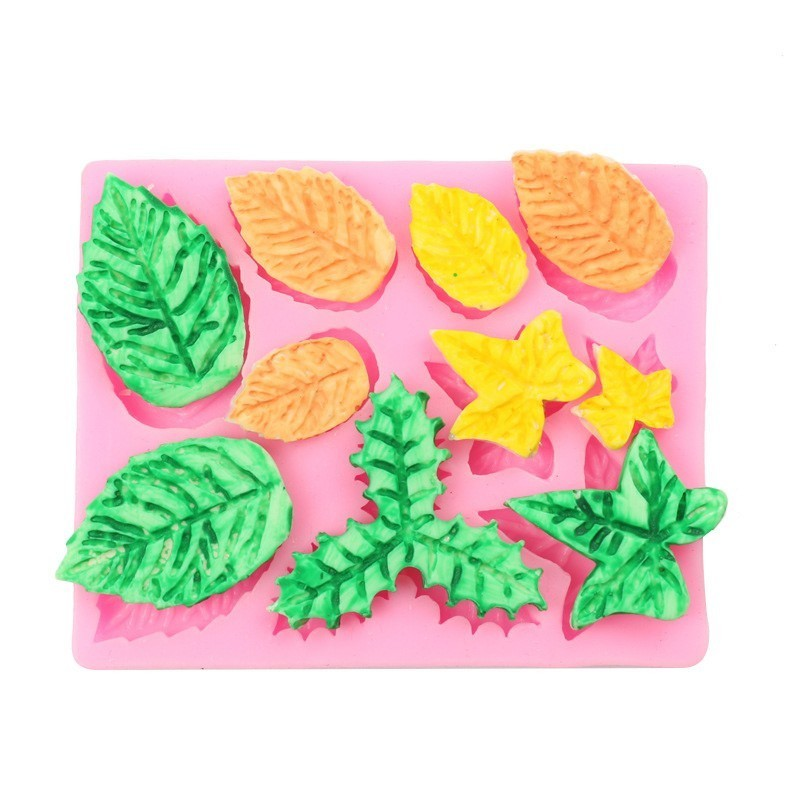 Cake Molds Various Leaves Shape Fondant Molds For Baking Silicone Mold Pastry Candy Chocolate Pudding Mold Cake Decorating Tools
