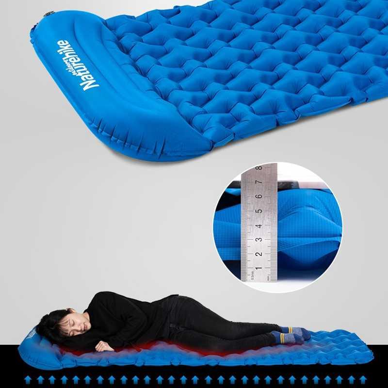 Naturehike 寝袋枕とエアバッグ新ハンドプレス膨張キャンプマットレス超軽量屋外ハイキングテントマット