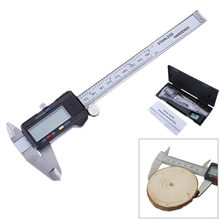 DANIU 6 Inch 150mm Electronic Mini Digital Caliper Micrometer Guage Ruler Button Battery with Black Hard Box Measuring Tool(China)