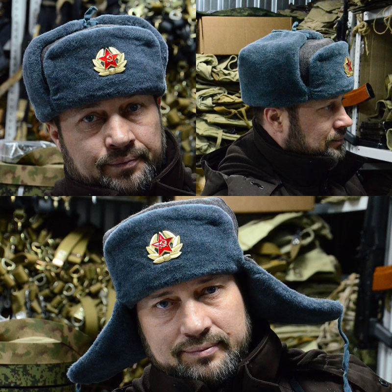 4ce2320eacc2e Detail Feedback Questions about Russian USSR Soldier Military Winter Hat  with Badge Fur hat Ushanka Red Star with Hammer Sickle on Aliexpress.com