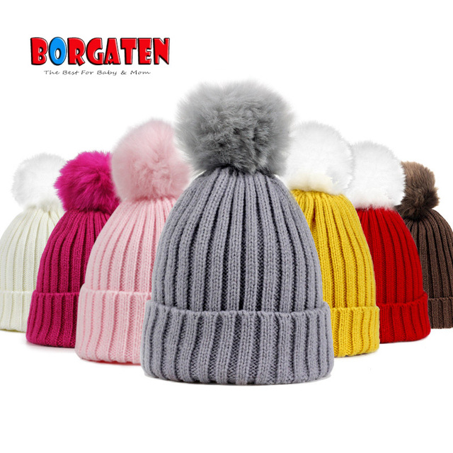 US $3 06 |Baby Winter Hat Pom Pom Hats Crochet Beanie for Kids Toddler Girl  Boy Bonnet Newborn Photography Props Accessories Christmas-in Hats & Caps