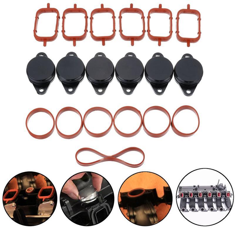 19 pçs 33mm o-rings redemoinho de carro aba bungs + juntas coletores para bmw e39 e46 e53 e60 E90-E93 1999-2010 #11617790198