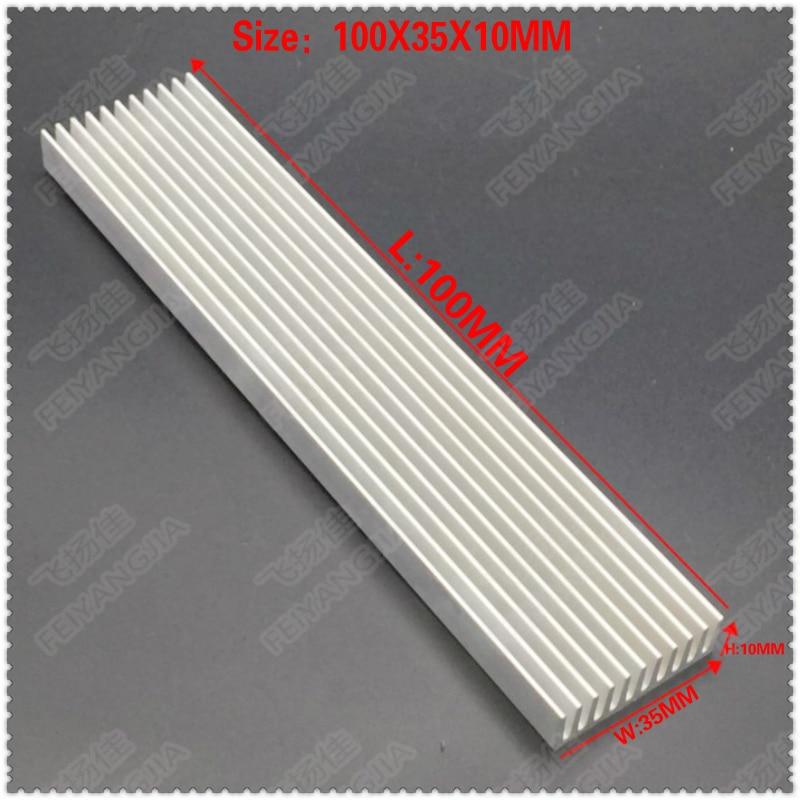 (Free shipping )2pcs 100x35x10mm Aluminum heatsinks, electronic radiator, cooling the aluminum block