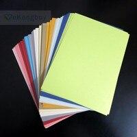 A6 A5 пустой жемчуг Цвет бумажные карточки DIY для приглашения поздравительной открытки